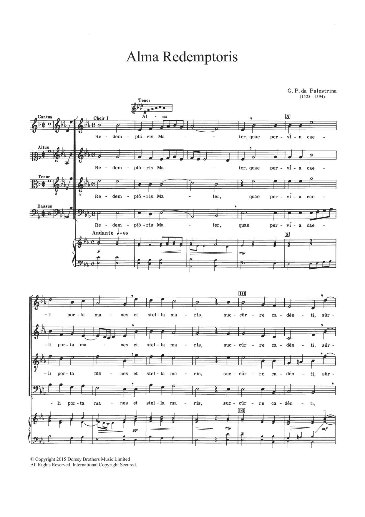 Alma Redemptoris Sheet Music