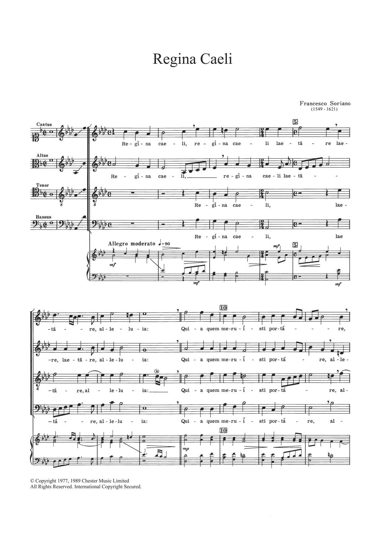 Regina Caeli Sheet Music