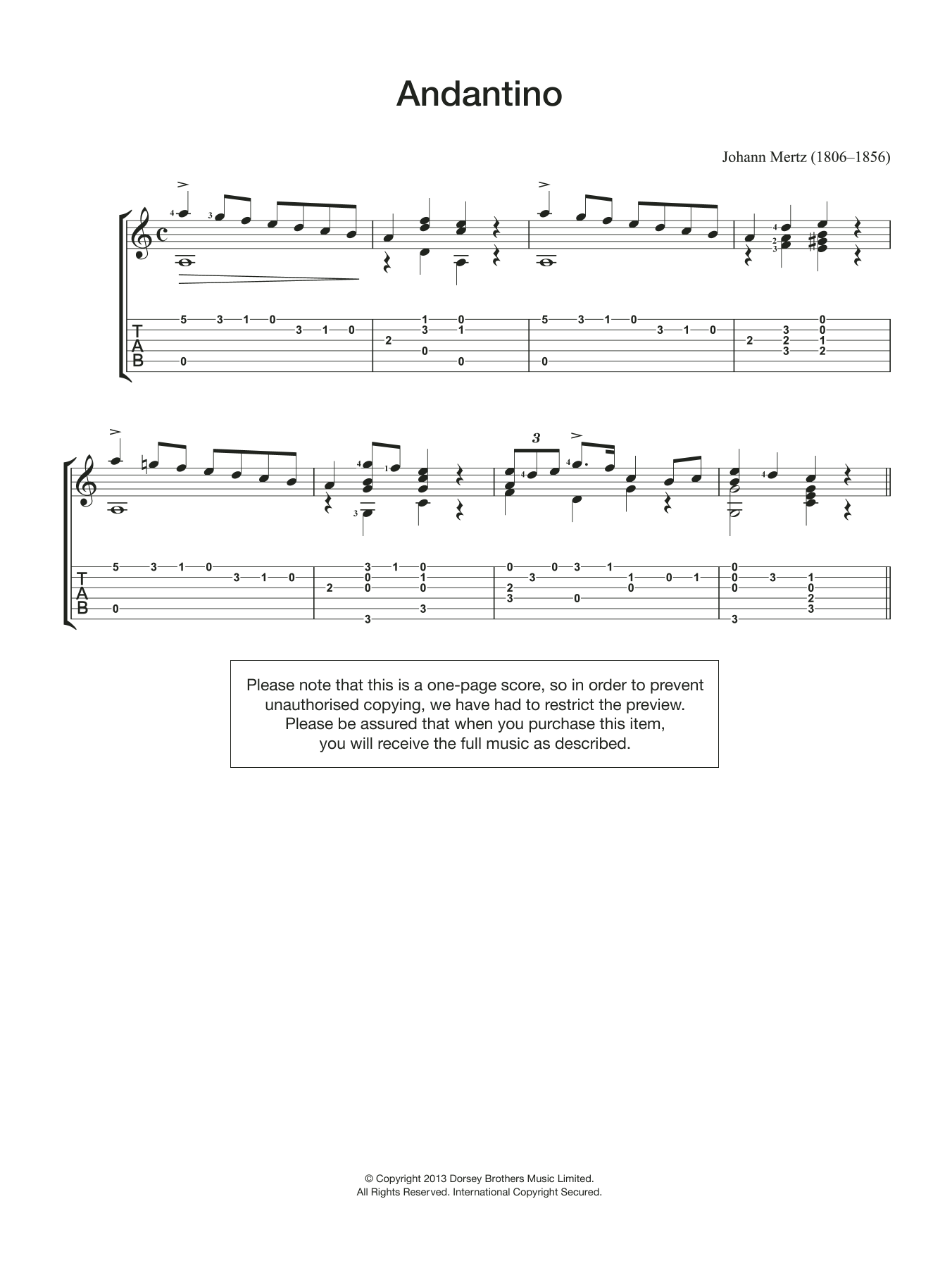 Andantino Sheet Music