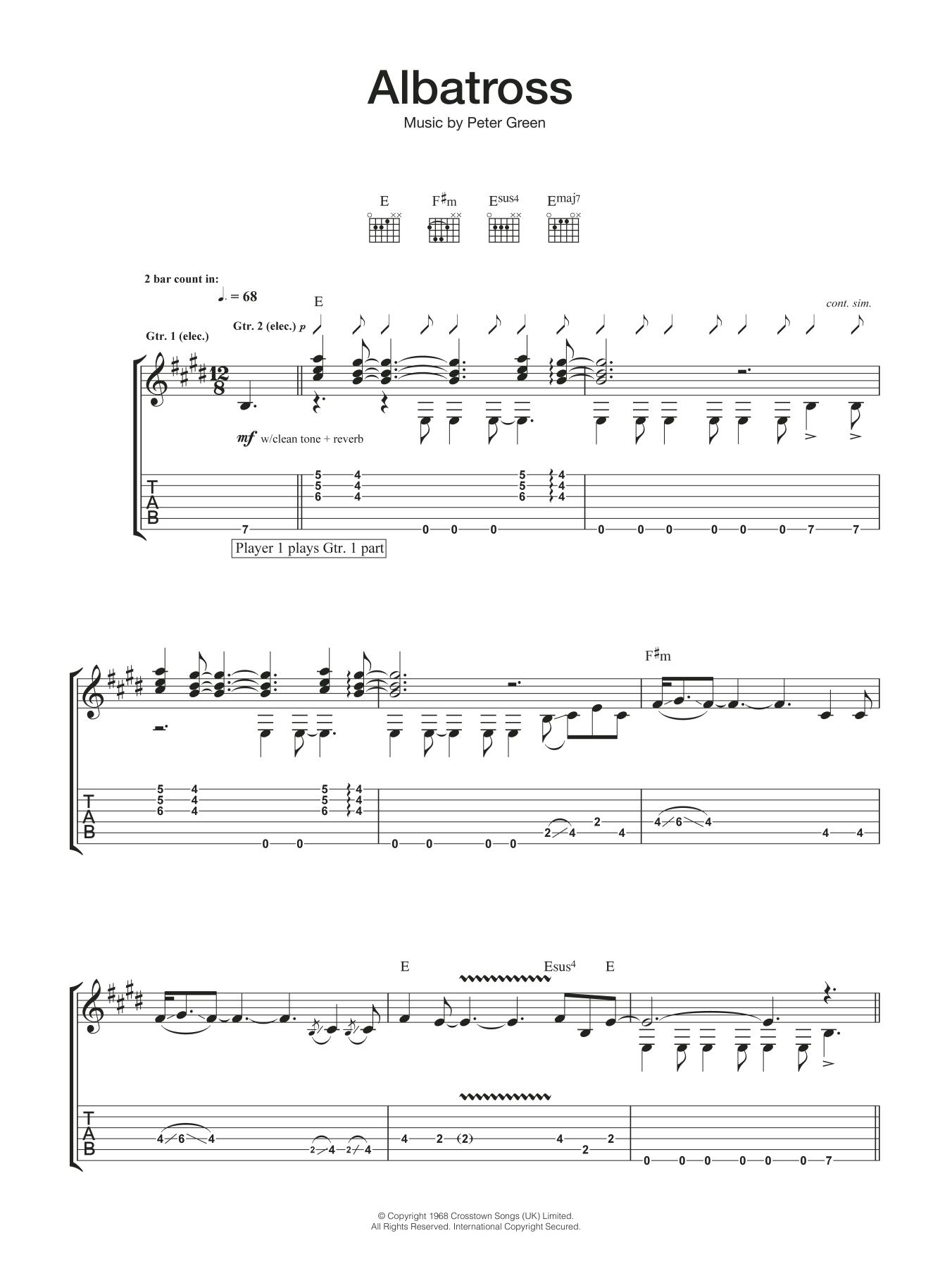Albatross Sheet Music