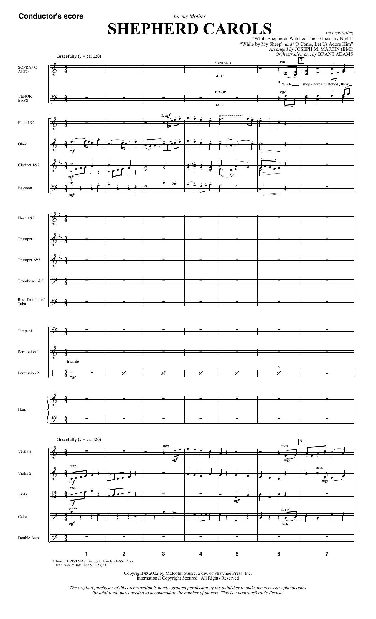 Shepherd Carols (COMPLETE) sheet music for orchestra/band by Joseph M. Martin. Score Image Preview.