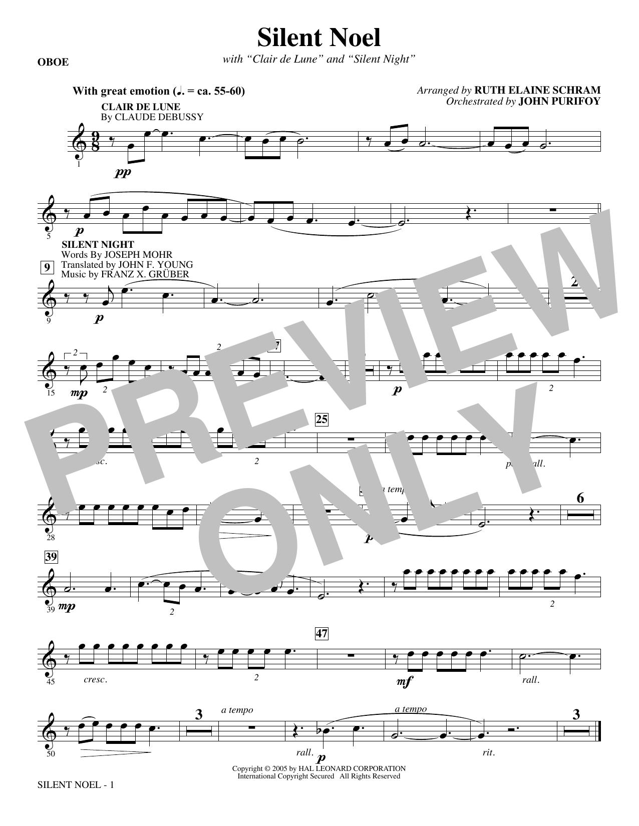 Silent Noel - Oboe Sheet Music