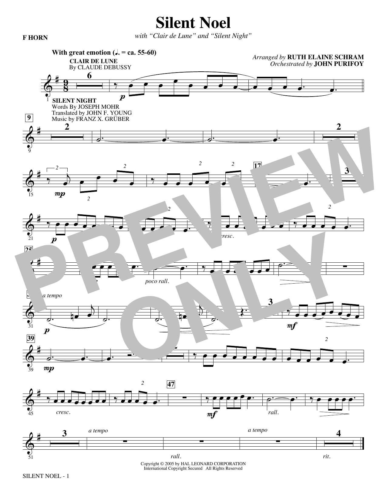 Silent Noel - F Horn (Choir Instrumental Pak)