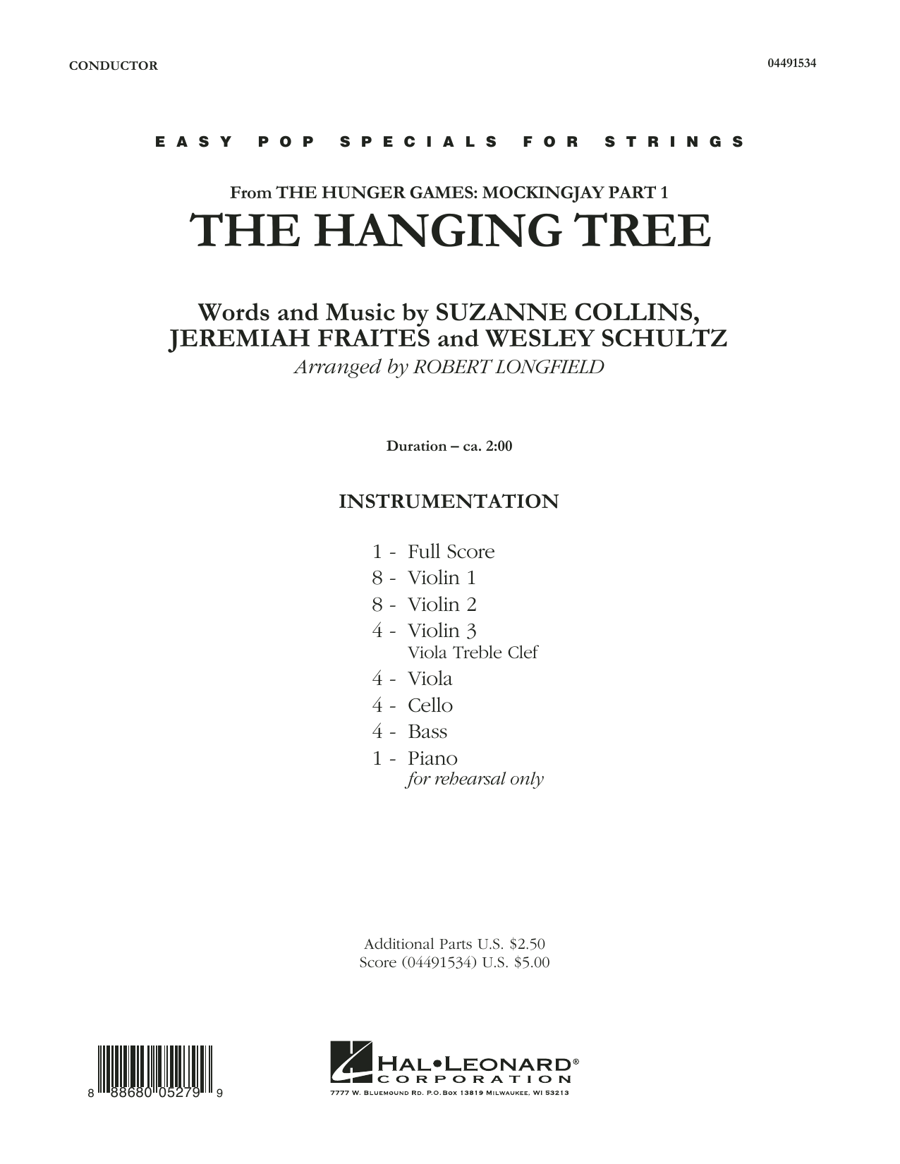 The Hanging Tree - Conductor Score (Full Score) (Orchestra)