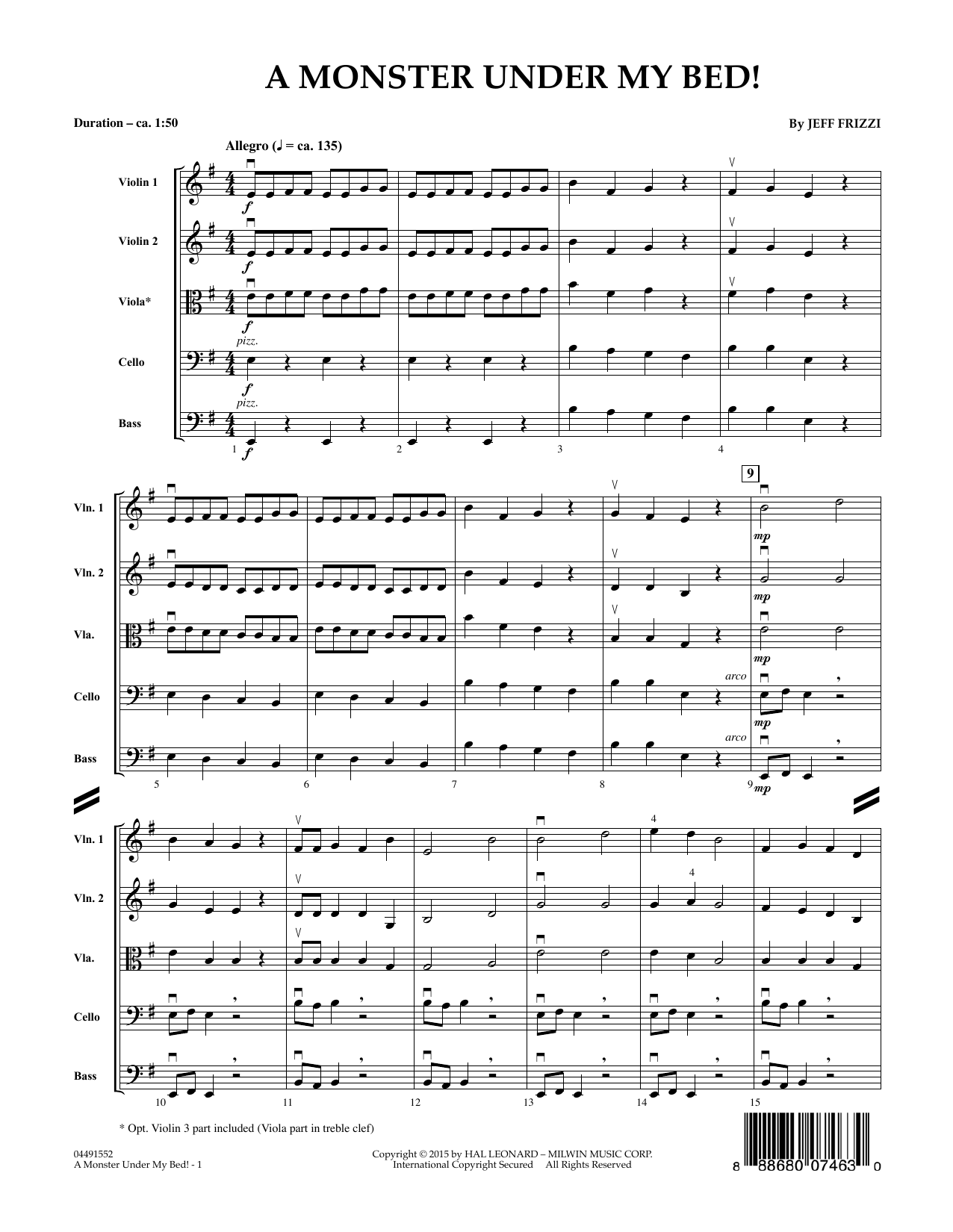 A Monster Under My Bed! - Conductor Score (Full Score) (Orchestra)