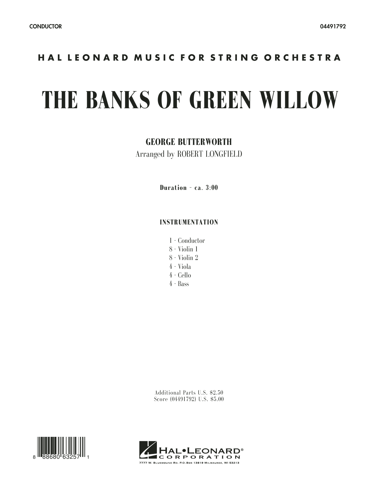 The Banks of Green Willow (COMPLETE) sheet music for orchestra by George Butterworth and Robert Longfield. Score Image Preview.