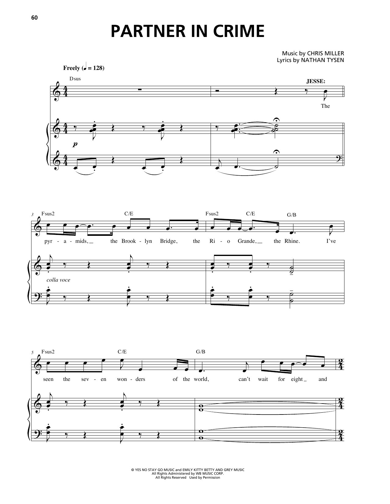 Partner In Crime Sheet Music