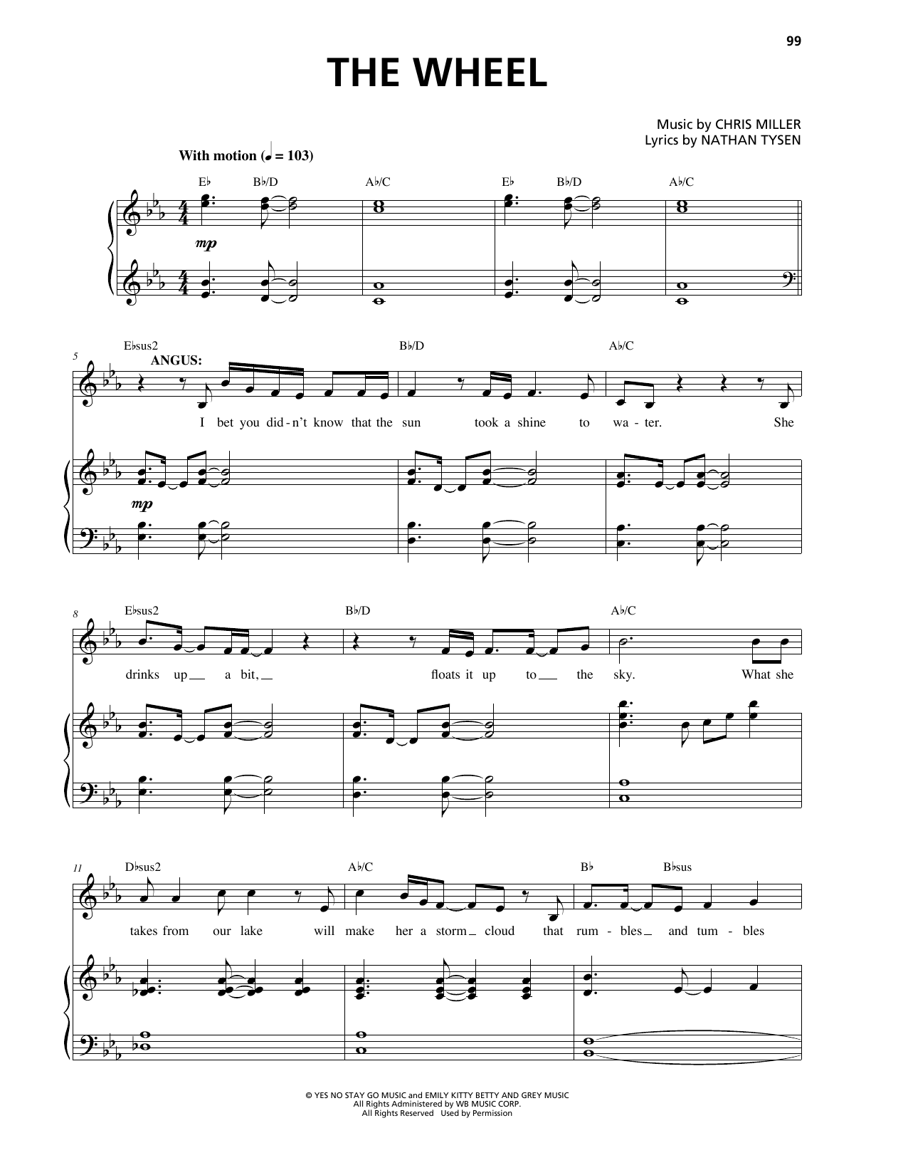 The Wheel Sheet Music