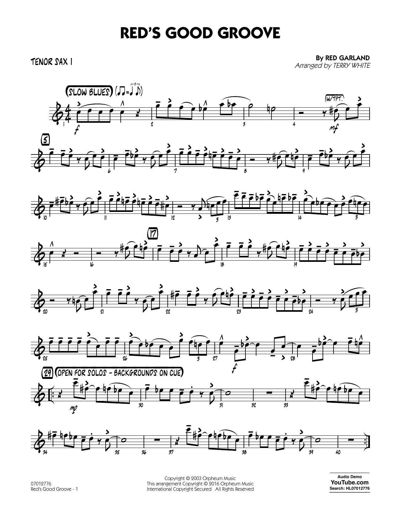 Red's Good Groove - Tenor Sax 1 (Jazz Ensemble)