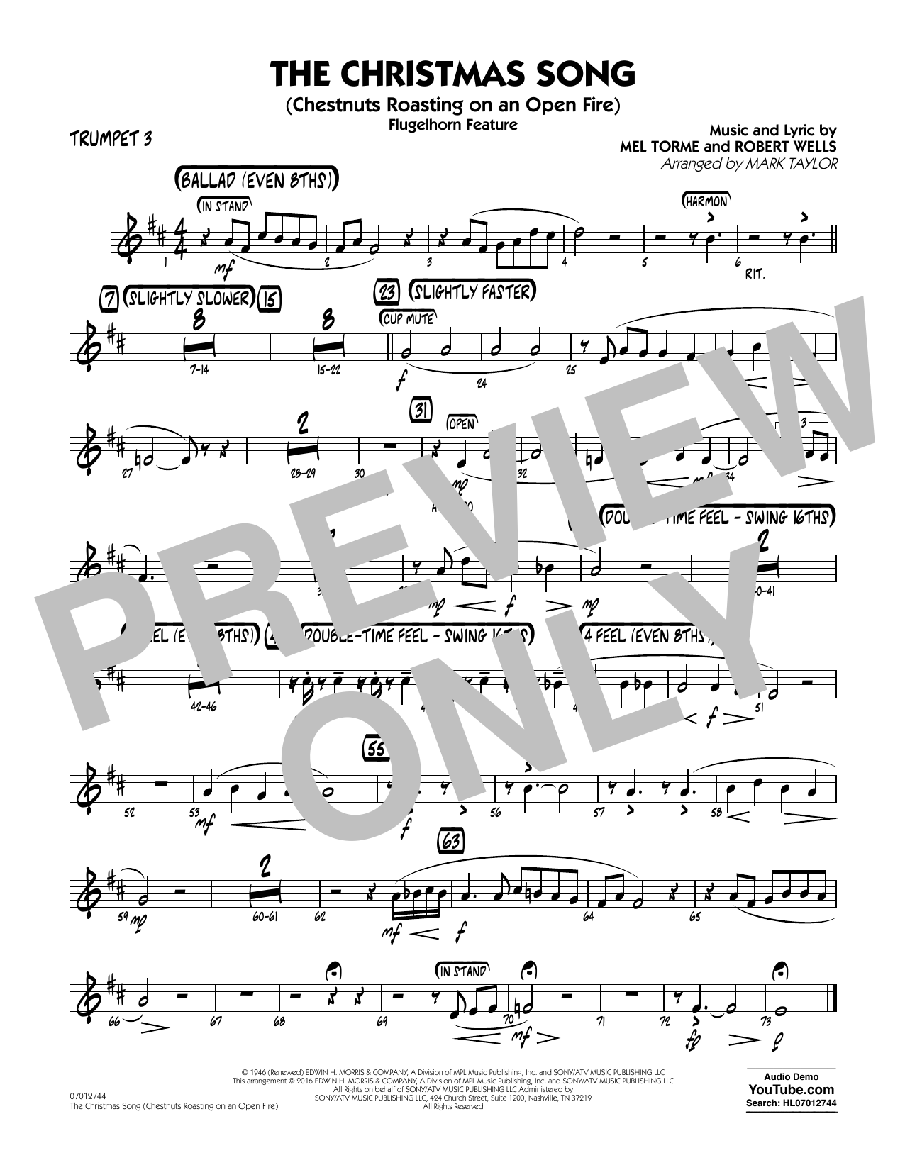 The Christmas Song (Chestnuts Roasting on an Open Fire) - Trumpet 3 (Jazz Ensemble)