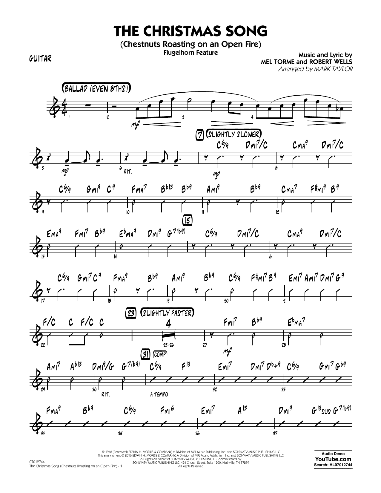 The Christmas Song (Chestnuts Roasting on an Open Fire) - Guitar (Jazz Ensemble)