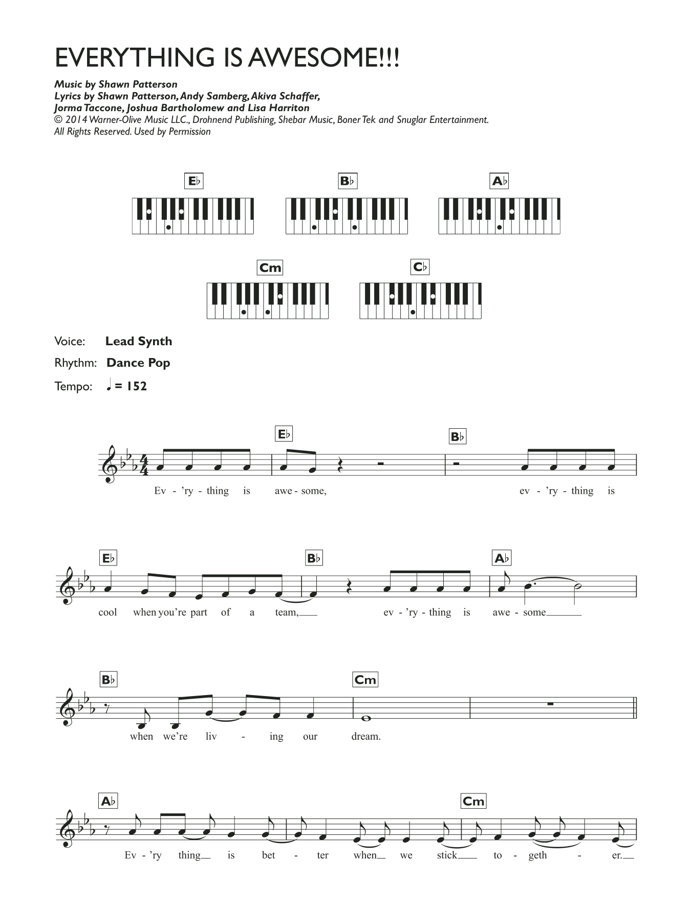 Everything Is Awesome Sheet Music