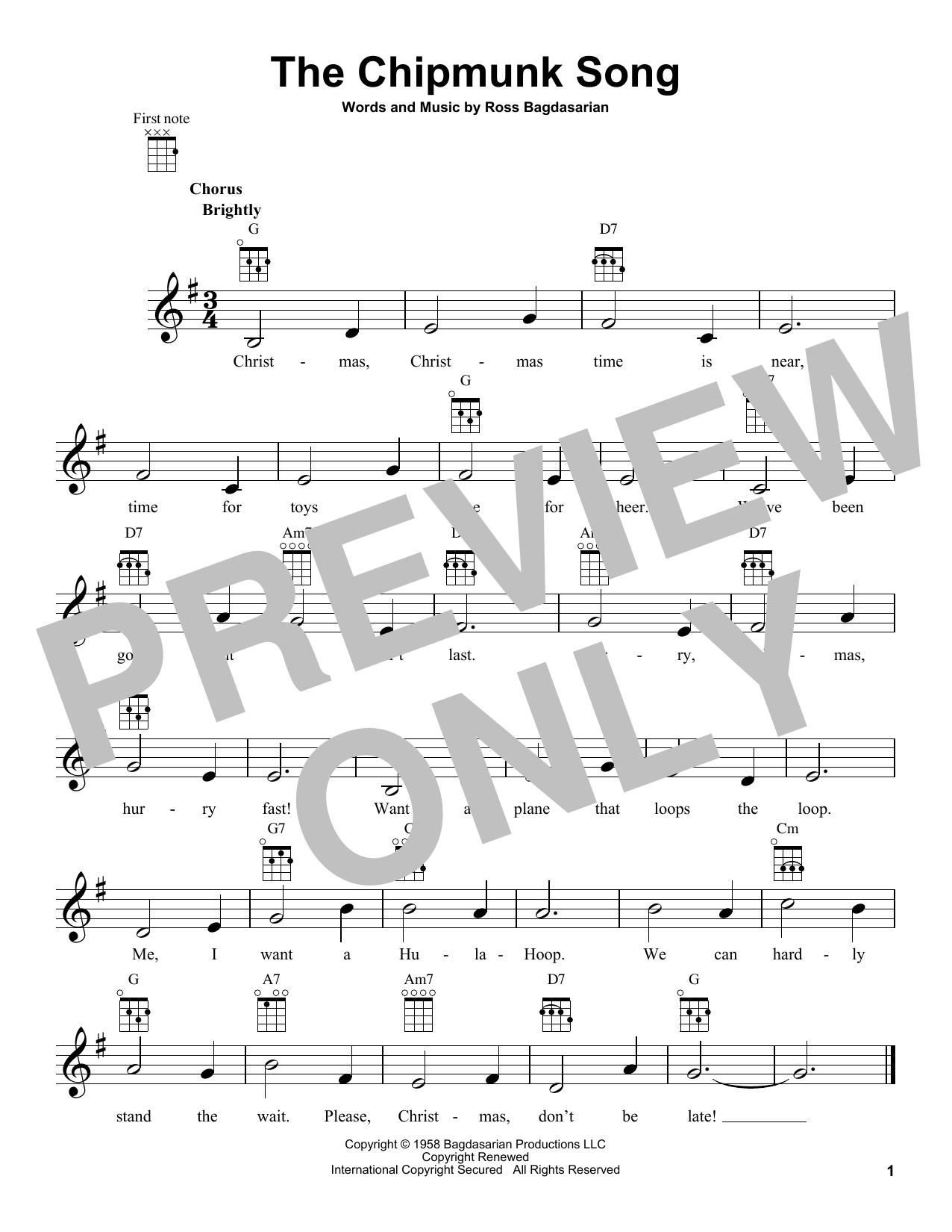 The Chipmunk Song (Ukulele)