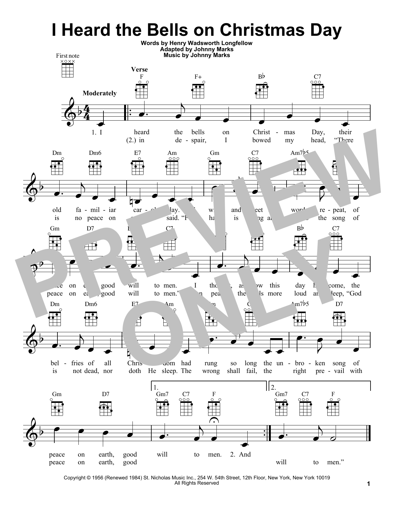 page one of I Heard The Bells On Christmas DayASALTTEXT