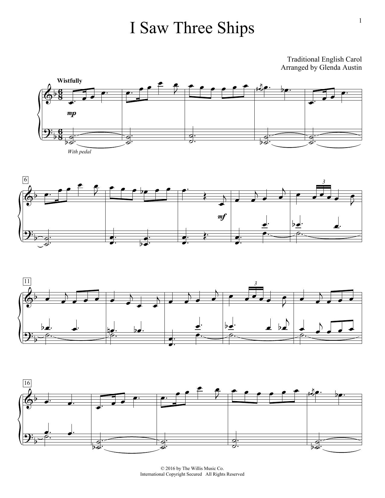 I Saw Three Ships (Educational Piano)