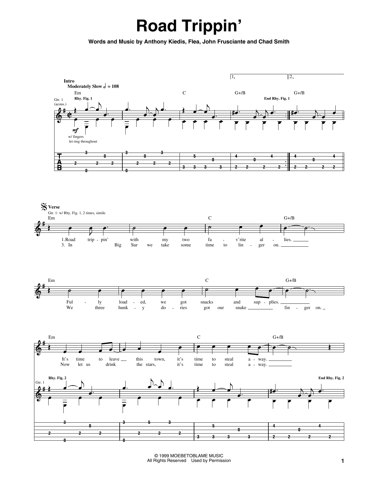 Road Trippin' Sheet Music