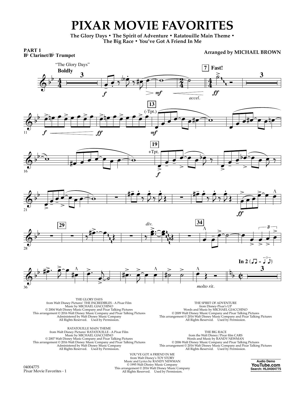 Pixar Movie Favorites - Pt.1 - Bb Clarinet/Bb Trumpet (Flex-Band)