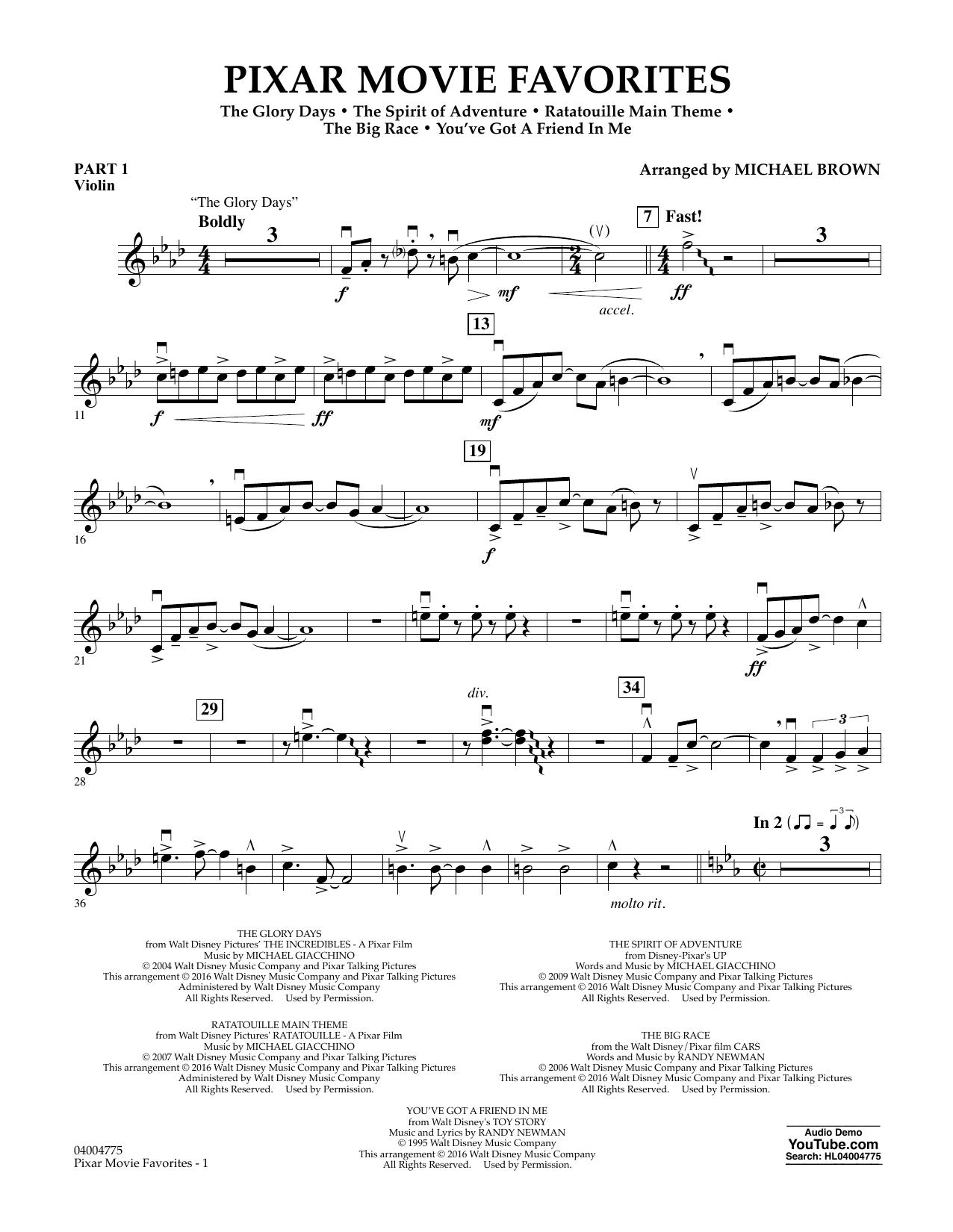 Pixar Movie Favorites - Pt.1 - Violin (Flex-Band)