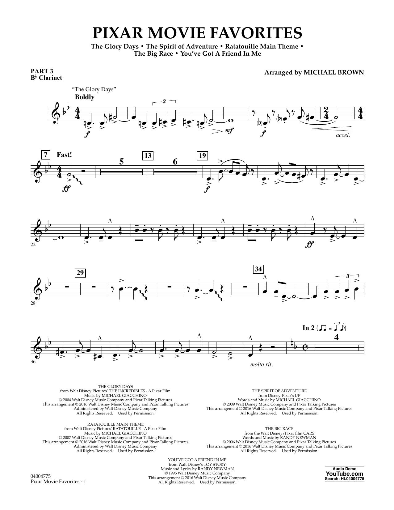 Pixar Movie Favorites - Pt.3 - Bb Clarinet (Flex-Band)