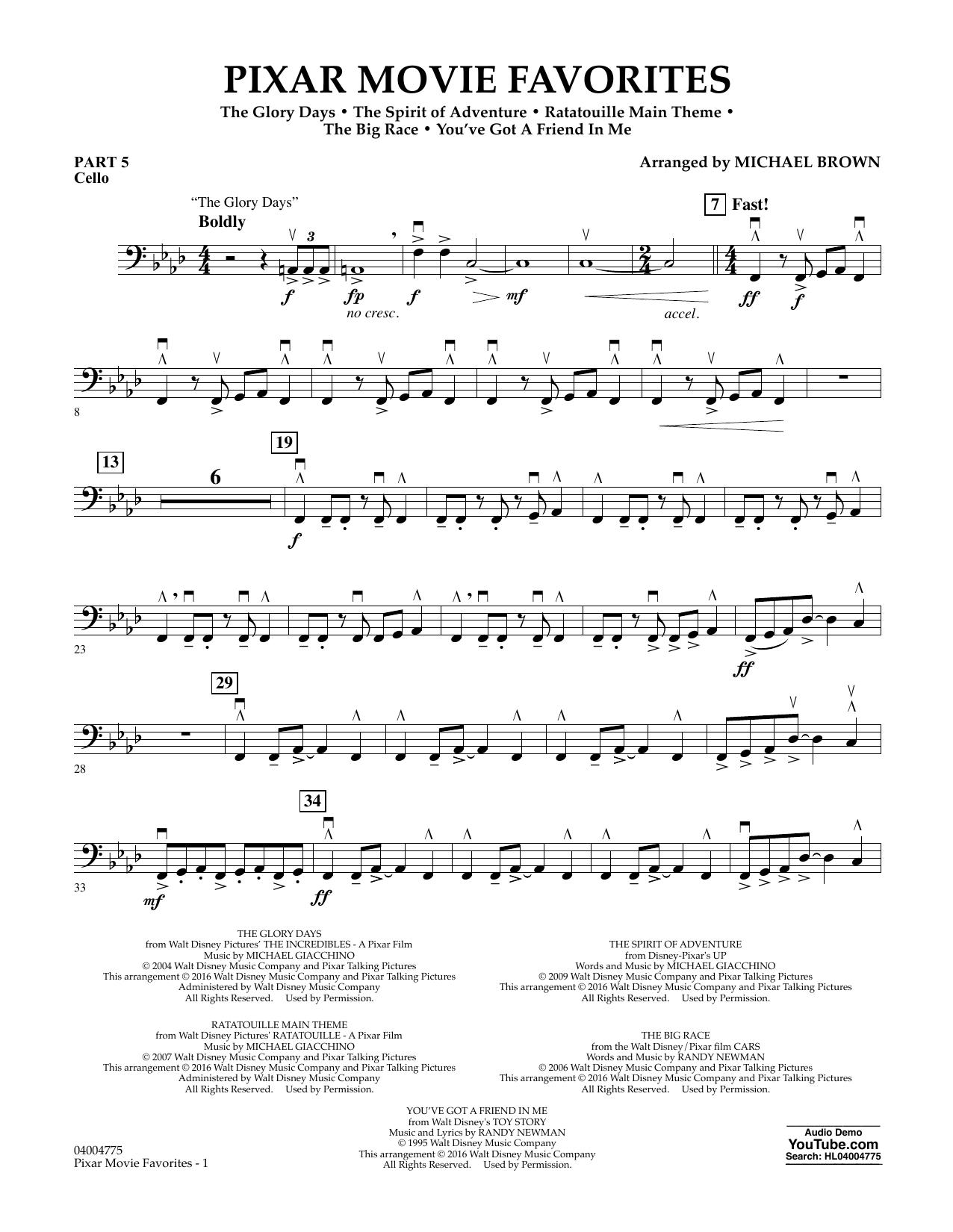 Pixar Movie Favorites - Pt.5 - Cello (Flex-Band)