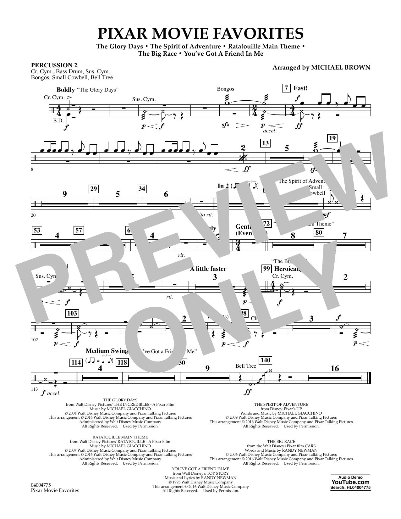 Pixar Movie Favorites - Percussion 2 (Flex-Band)
