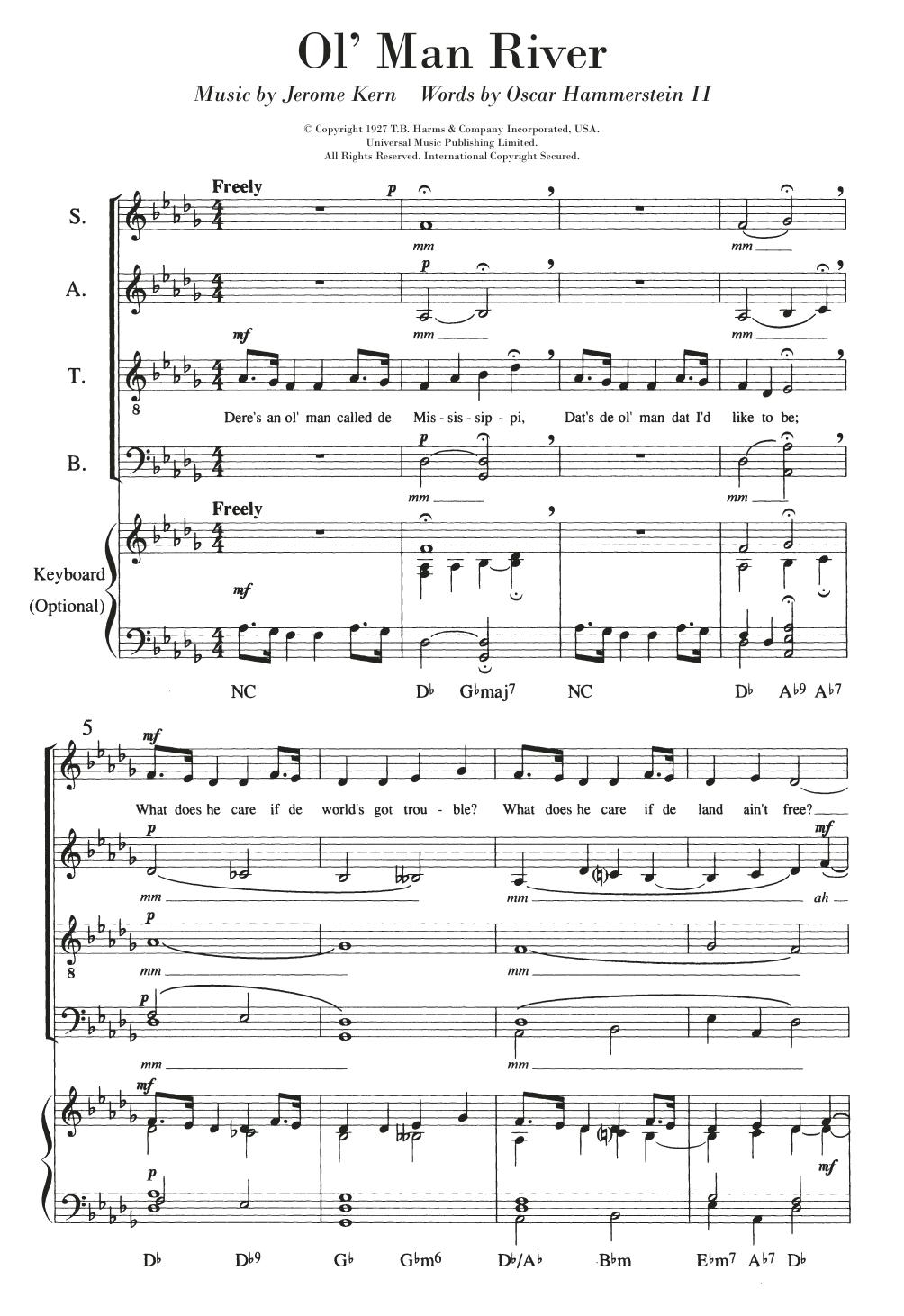 Ol' Man River Sheet Music