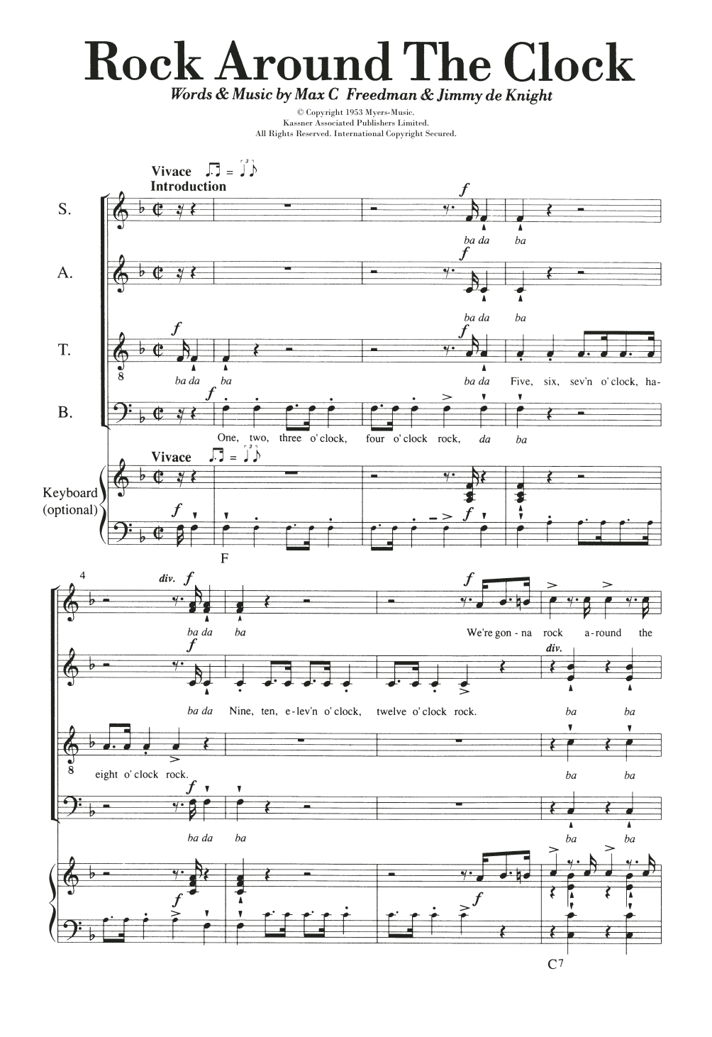 Rock Around The Clock Sheet Music