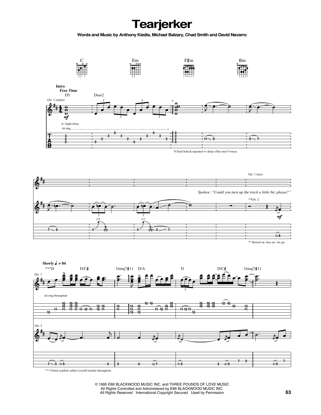 Tearjerker Sheet Music