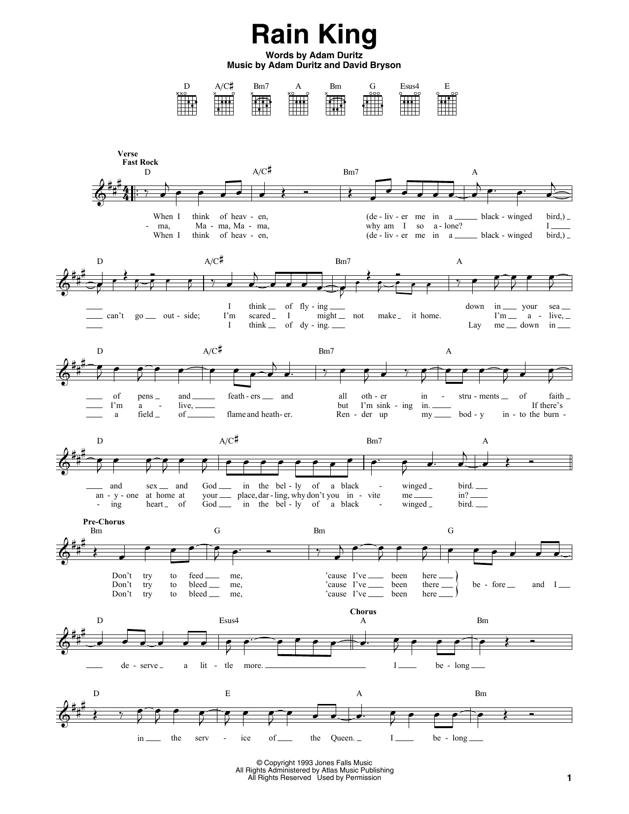 Rain King Sheet Music