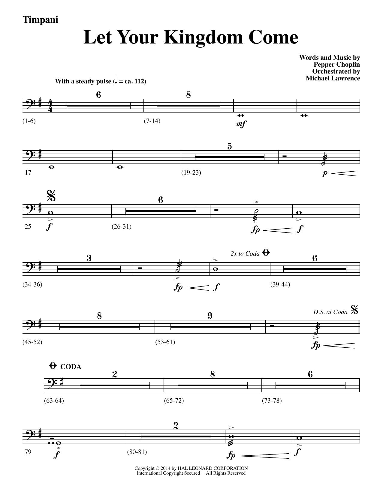 Let Your Kingdom Come - Timpani (Choir Instrumental Pak)