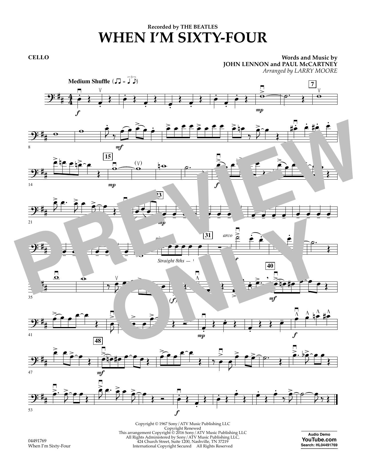 When I'm Sixty-Four - Cello (Orchestra)