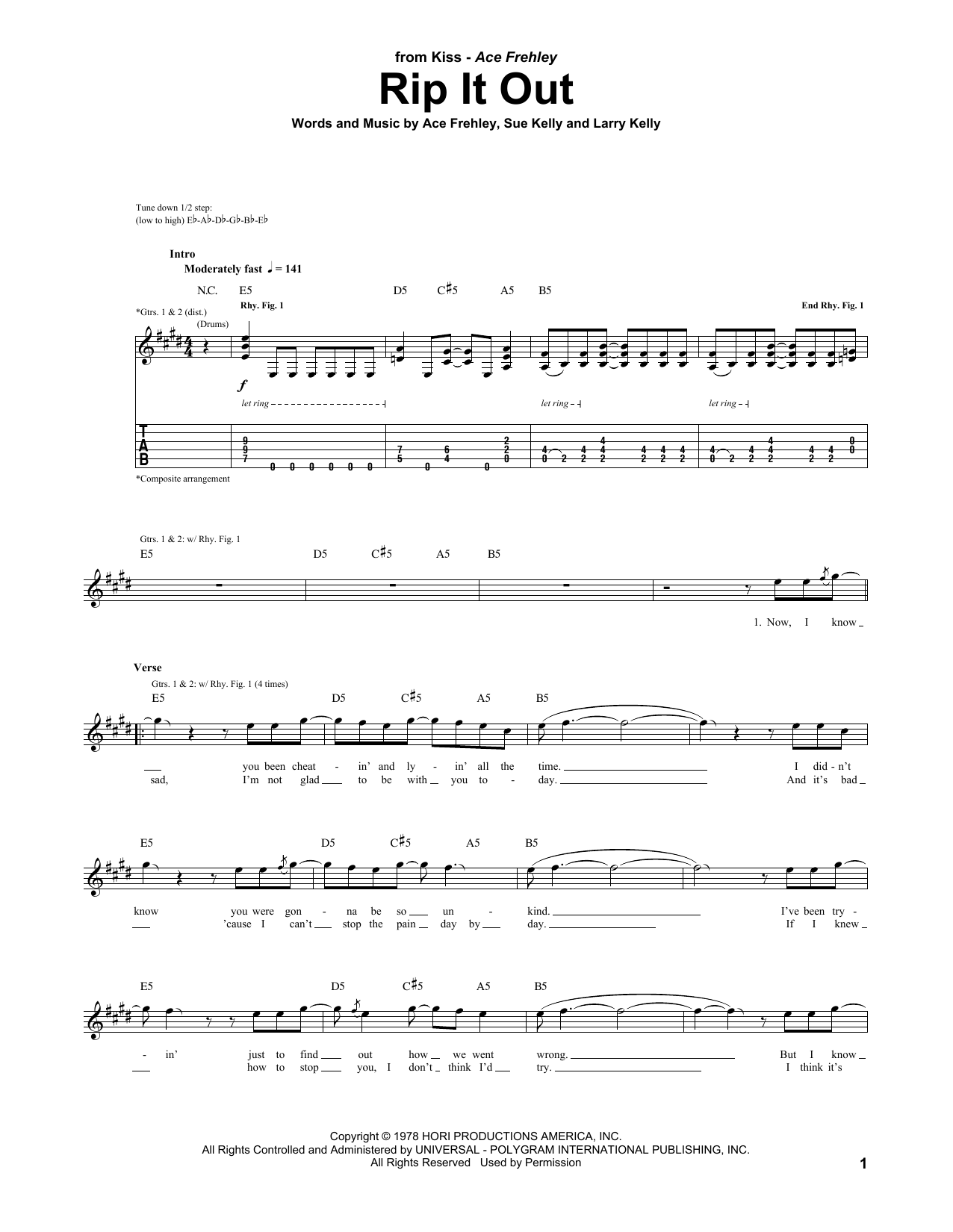 Rip It Out Sheet Music