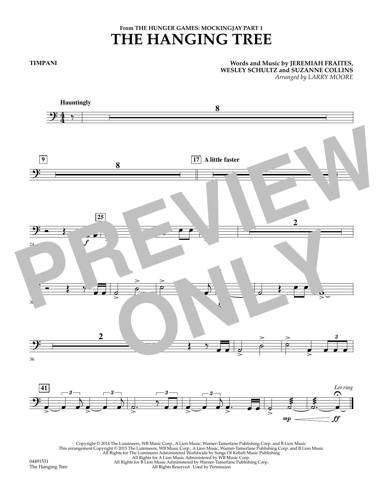 The Hanging Tree - Timpani (Orchestra)