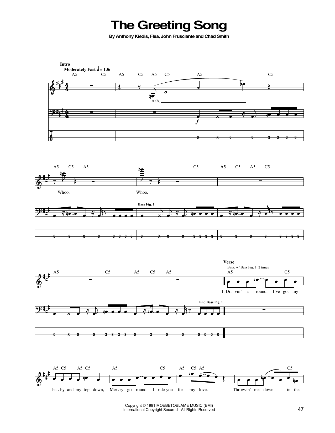 The Greeting Song Sheet Music