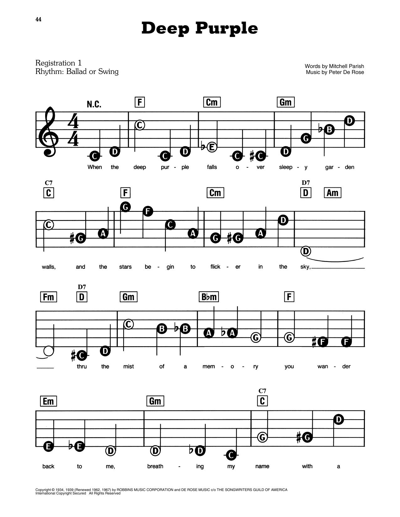 Deep Purple (E-Z Play Today)