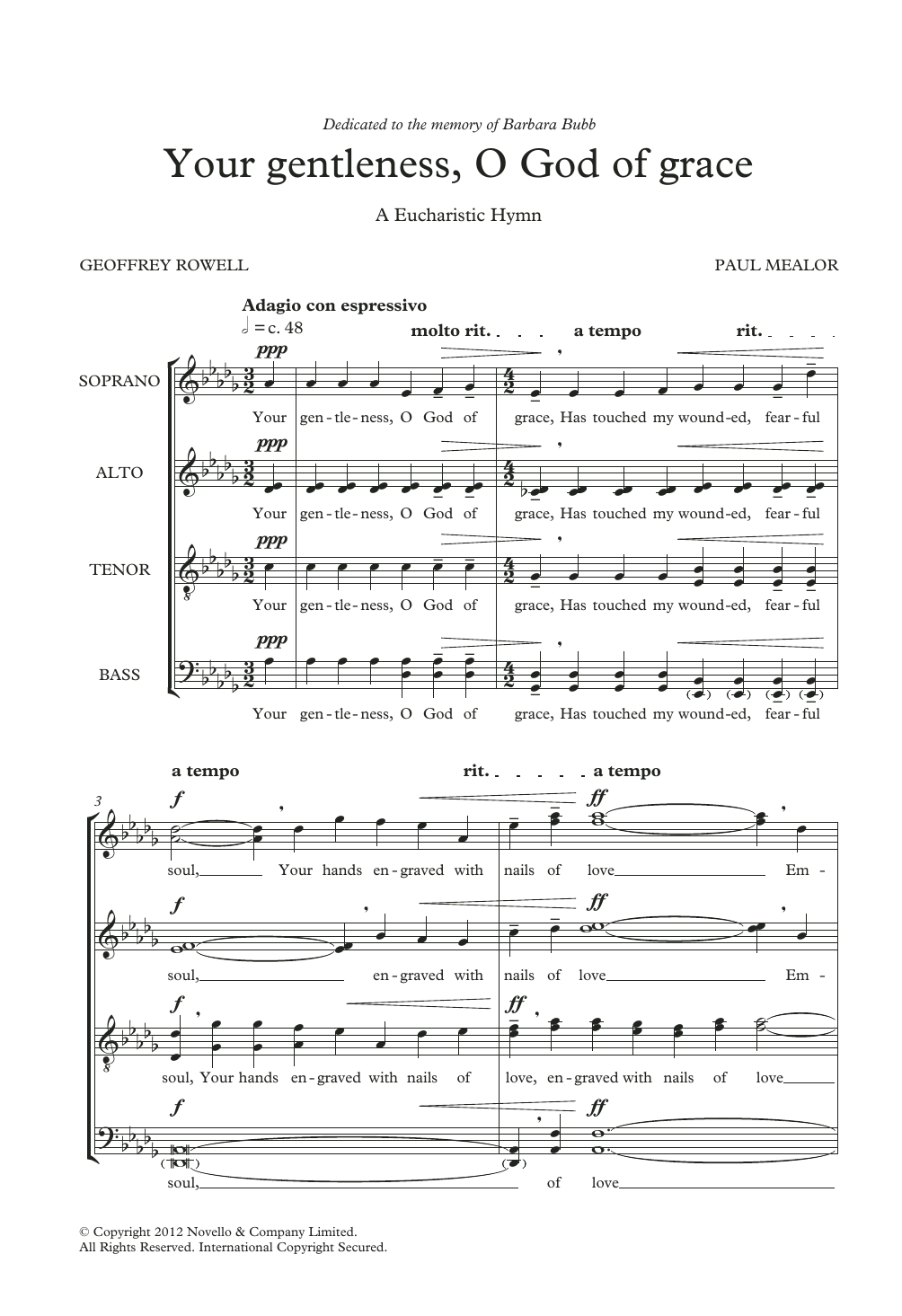 Your Gentleness, O God Of Grace Sheet Music