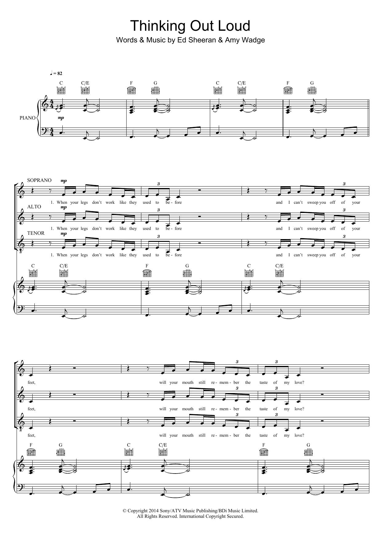 Thinking Out Loud (arr. Mark De-Lisser) Sheet Music