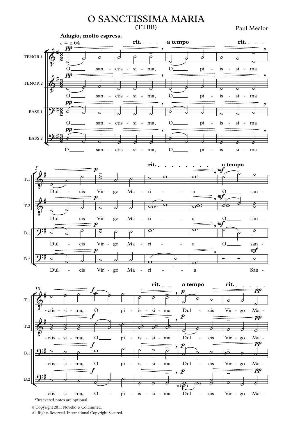 O Sanctissima Maria Sheet Music