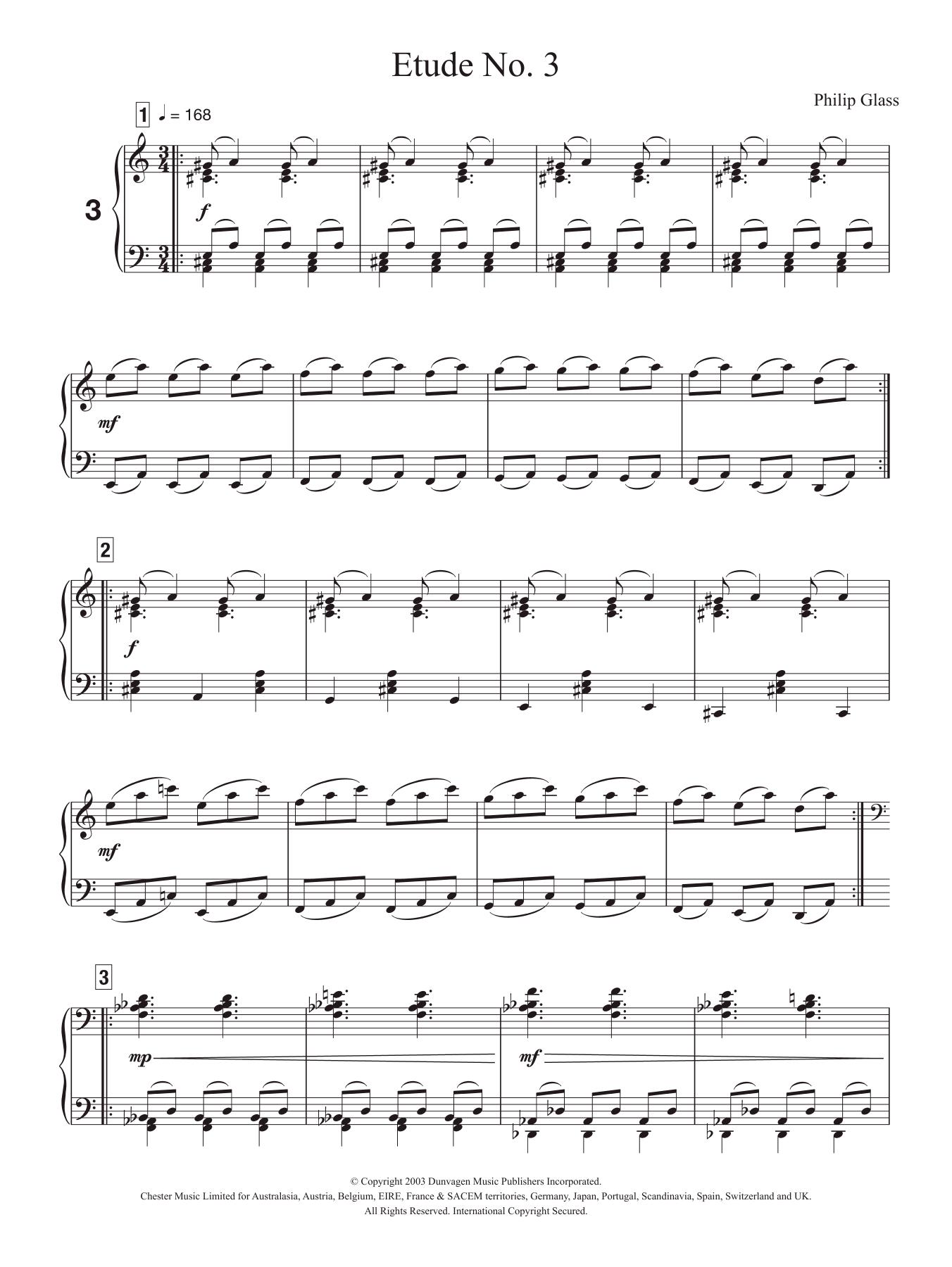 Etude No. 3 Sheet Music