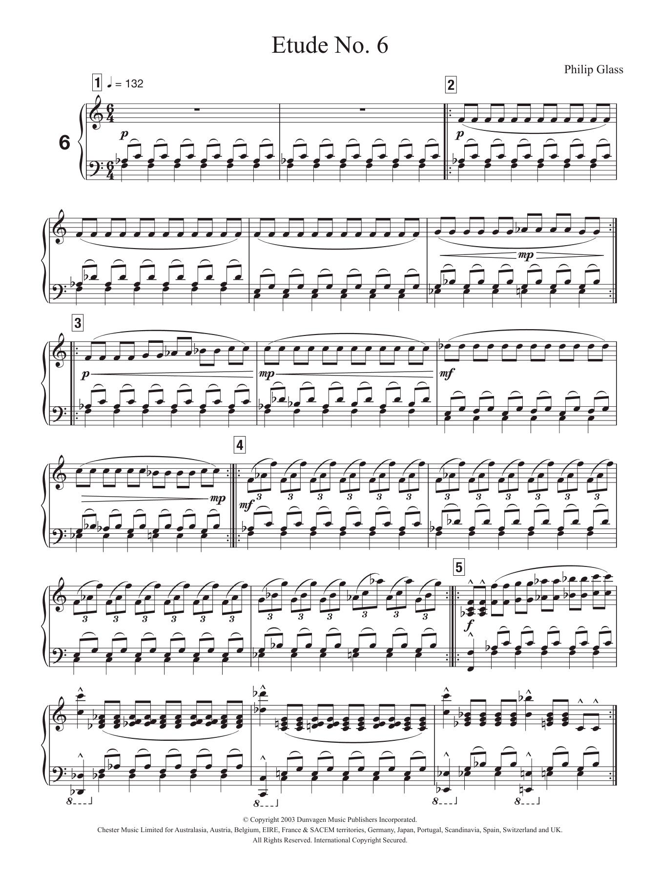 Etude No. 6 Sheet Music