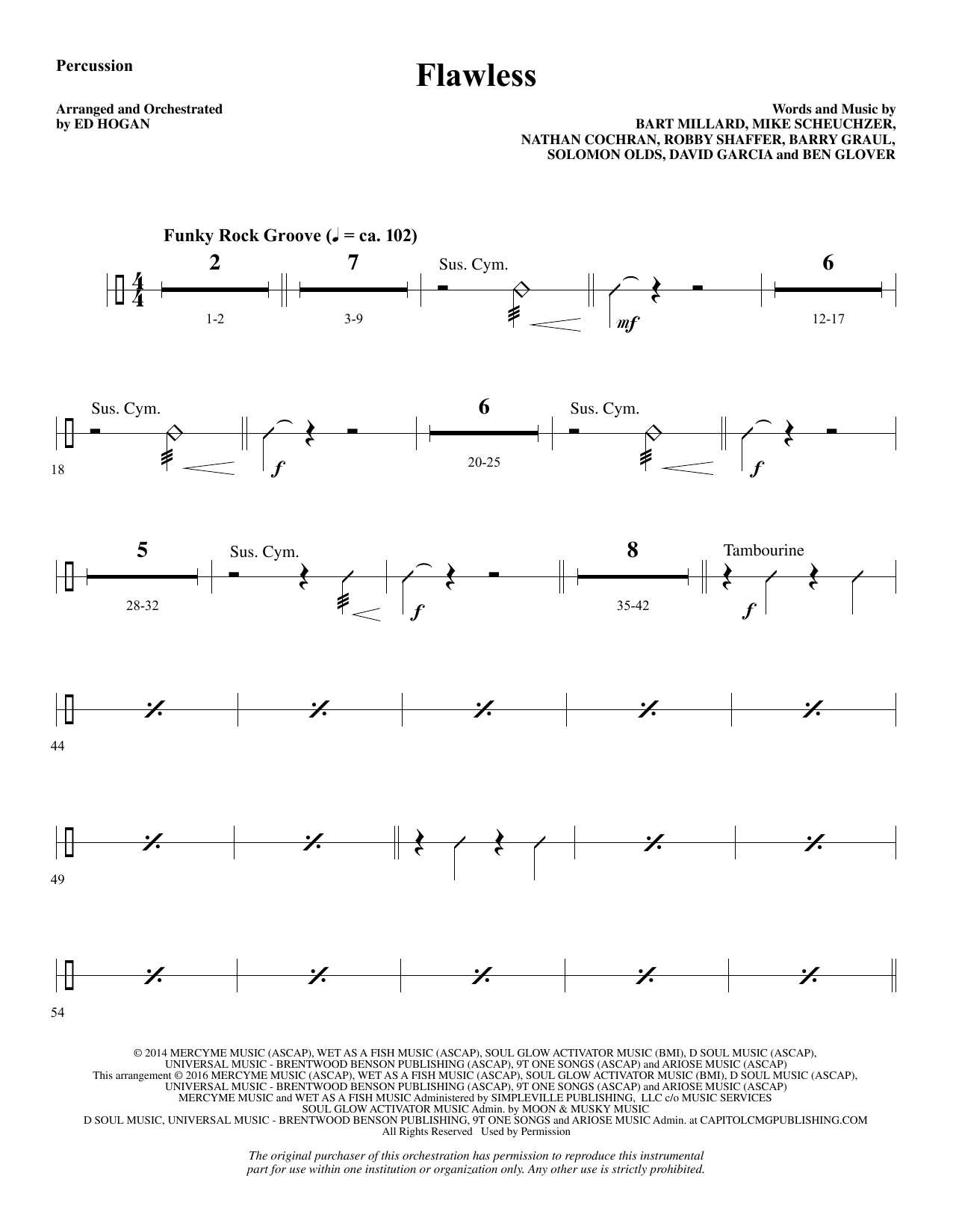 Flawless - Percussion Sheet Music
