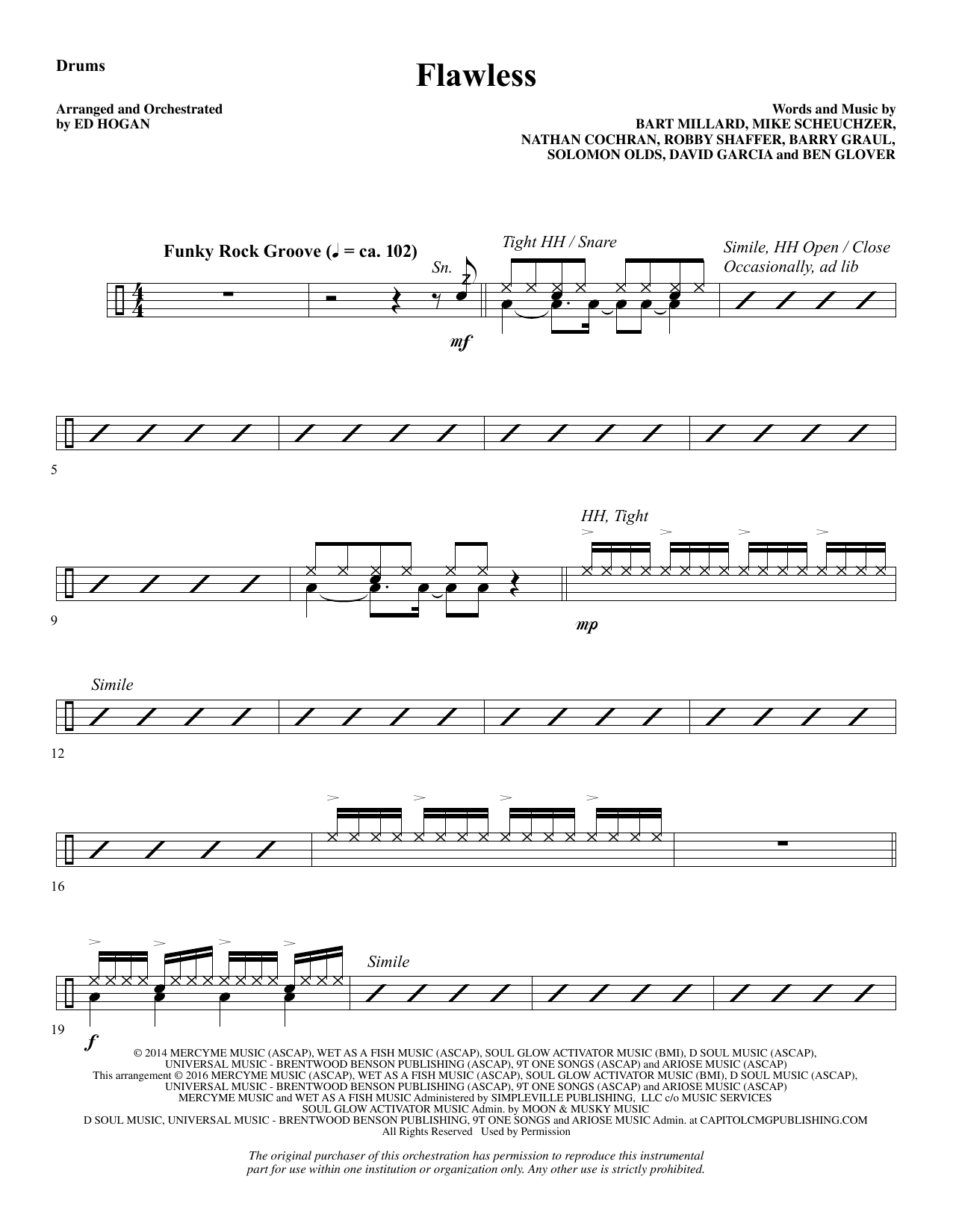 Flawless - Drums Sheet Music