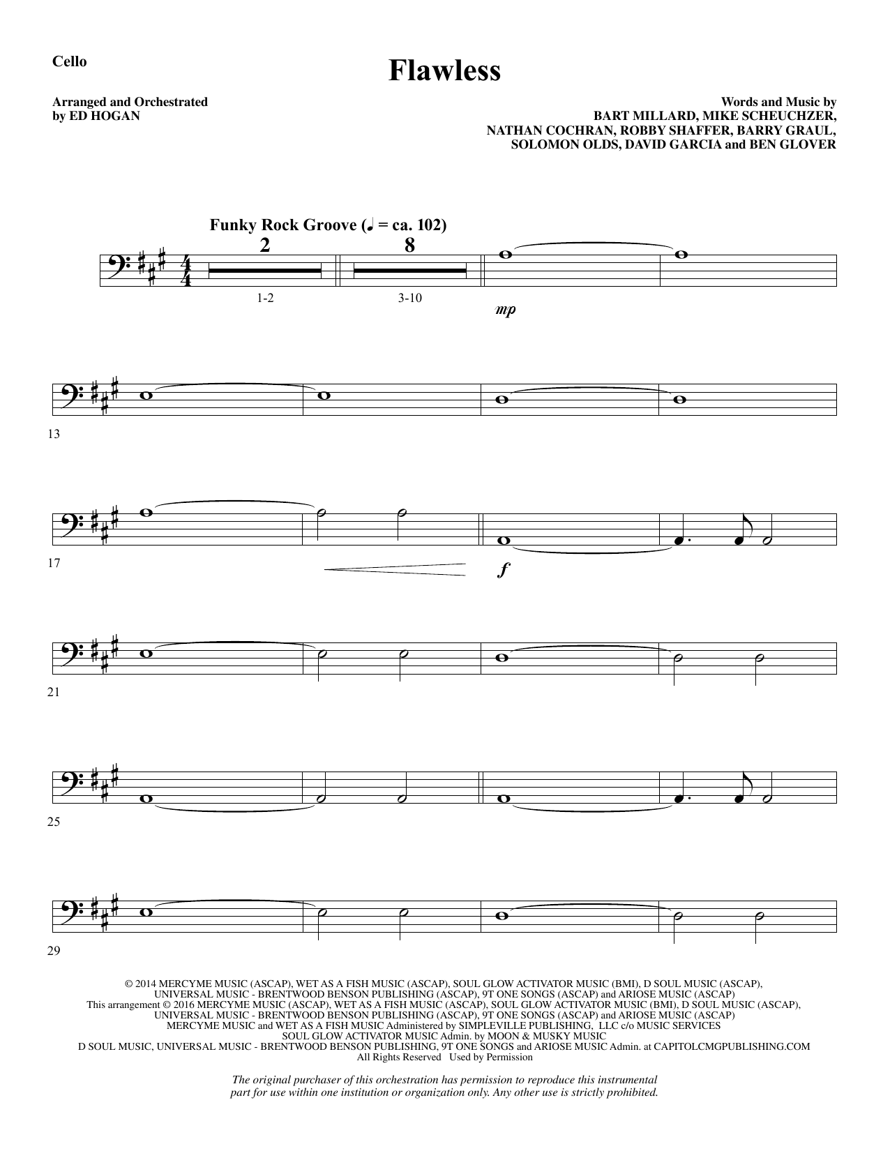 Flawless - Cello Sheet Music