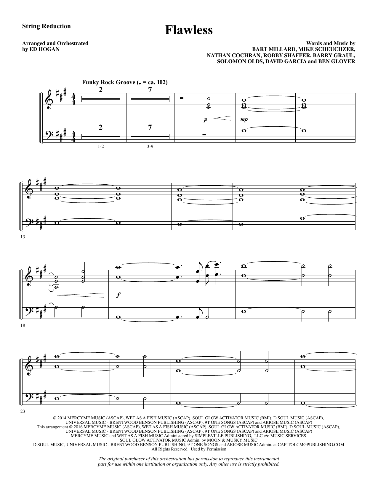 Flawless - Keyboard String Reduction Sheet Music