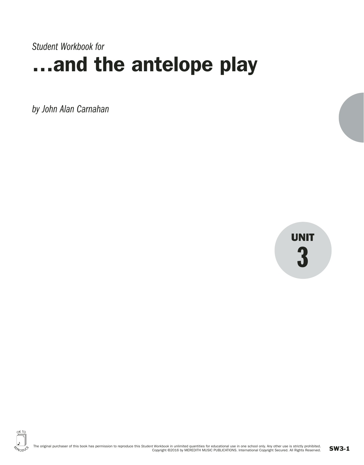 Guides to Band Masterworks, Vol. 6 - Student Workbook - and the antelope play Sheet Music