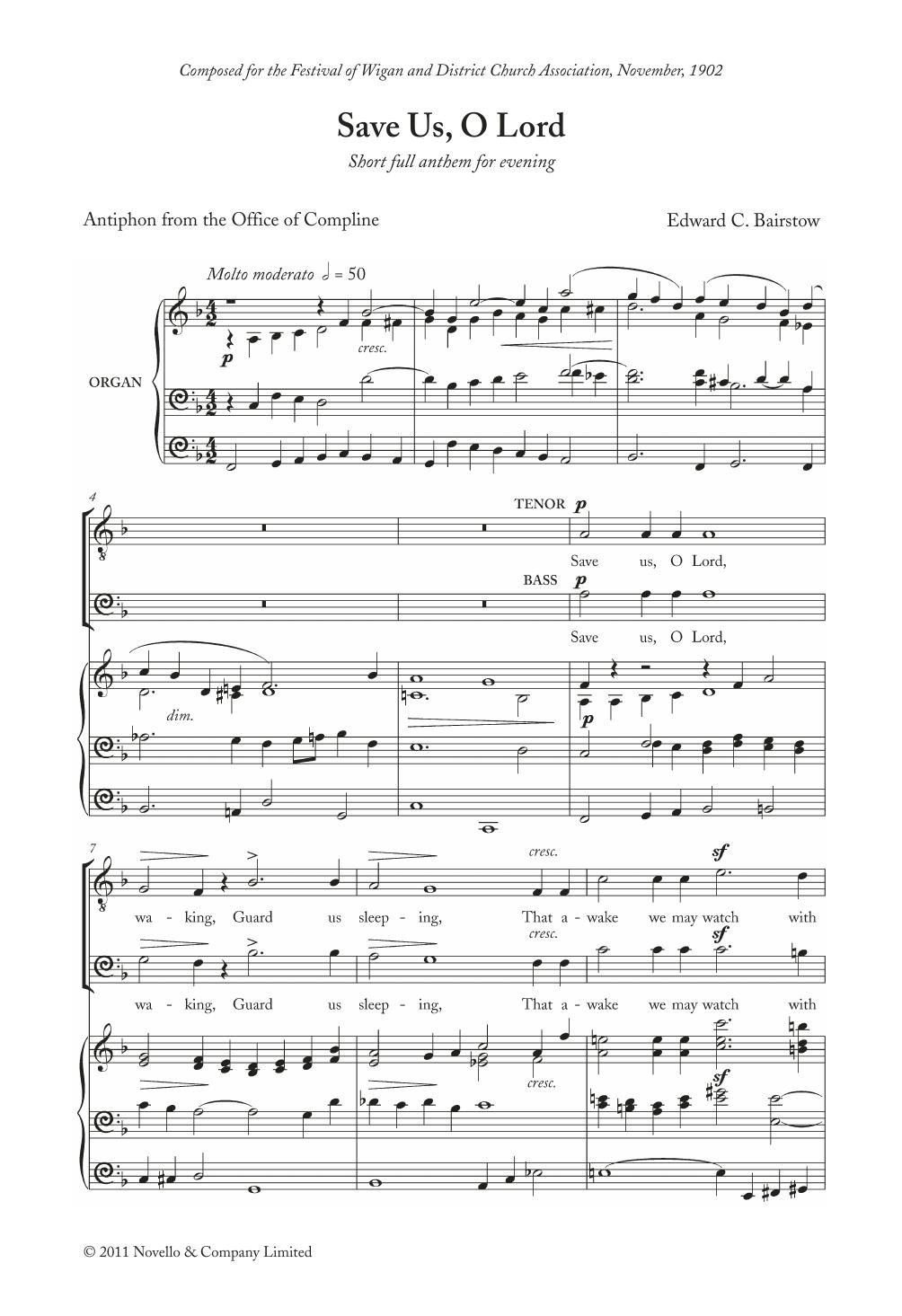 Save Us, O Lord Sheet Music