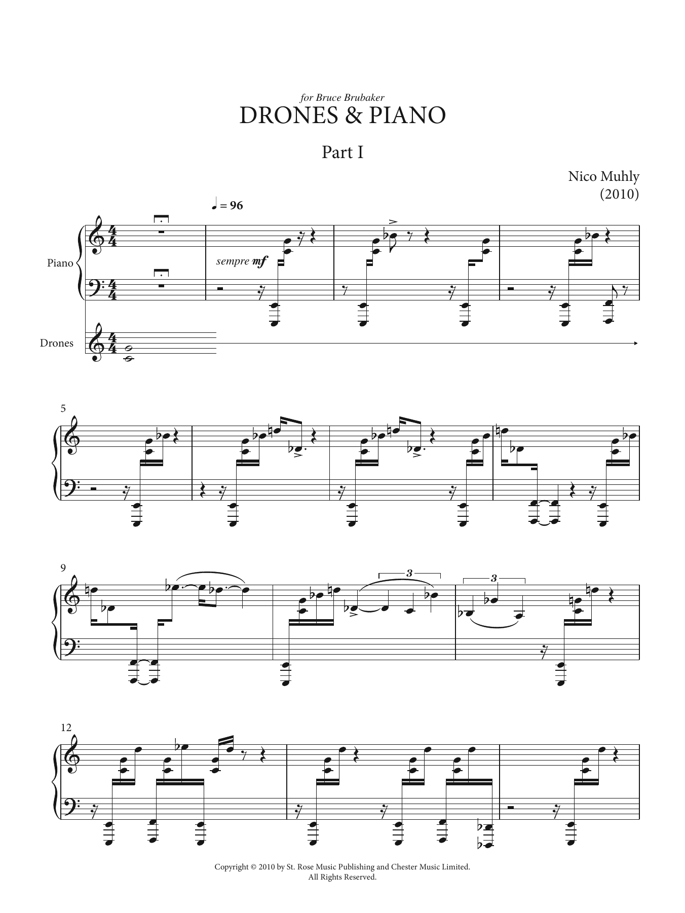 Drones And Piano Sheet Music