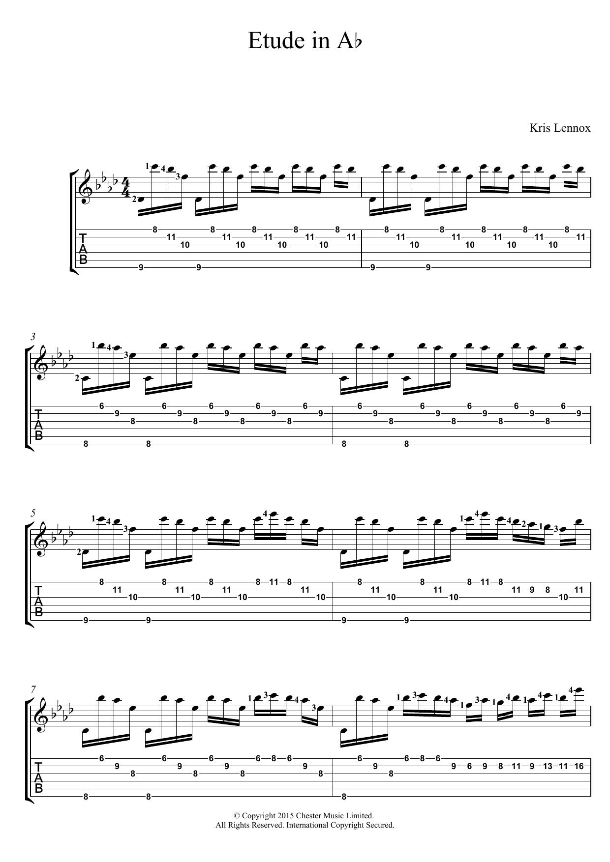 Etude In A Flat Sheet Music