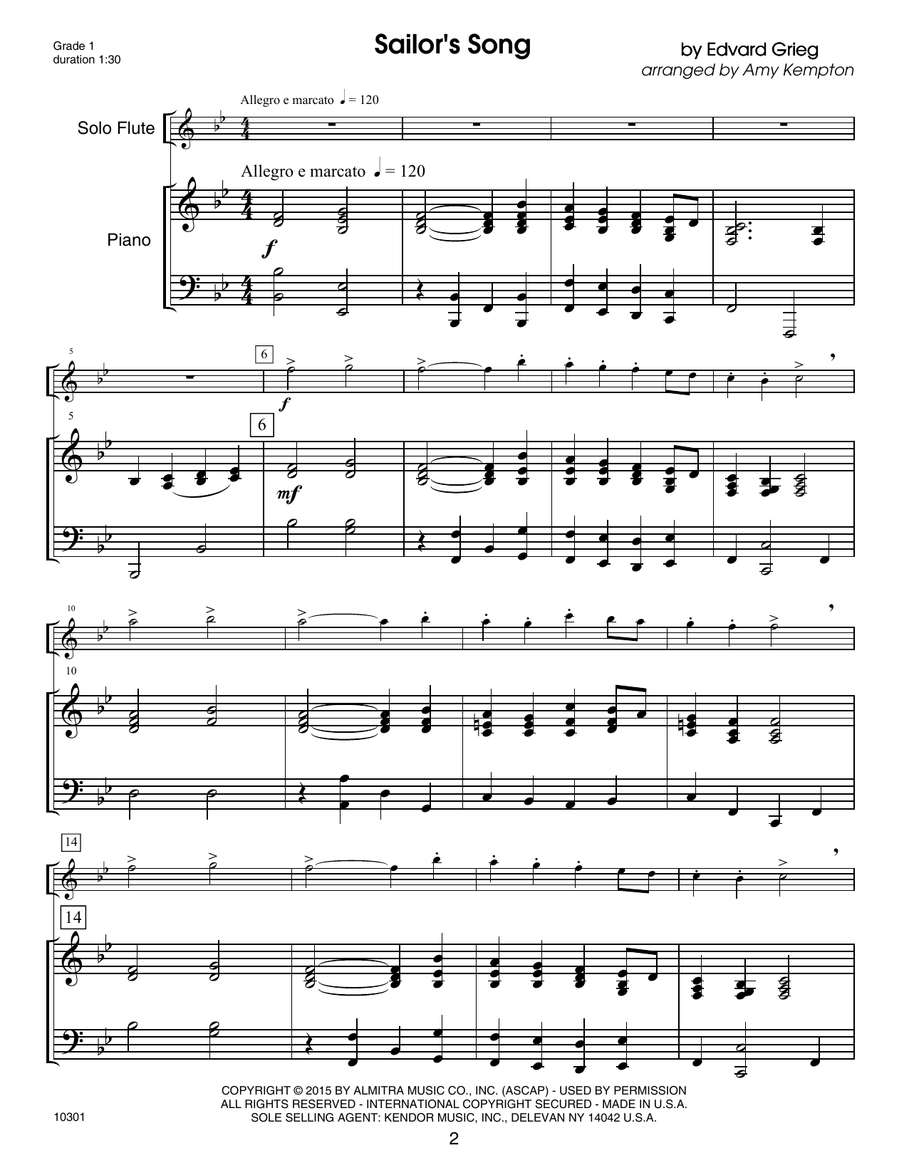 Kendor Debut Solos - Flute - Piano Accompaniment Sheet Music