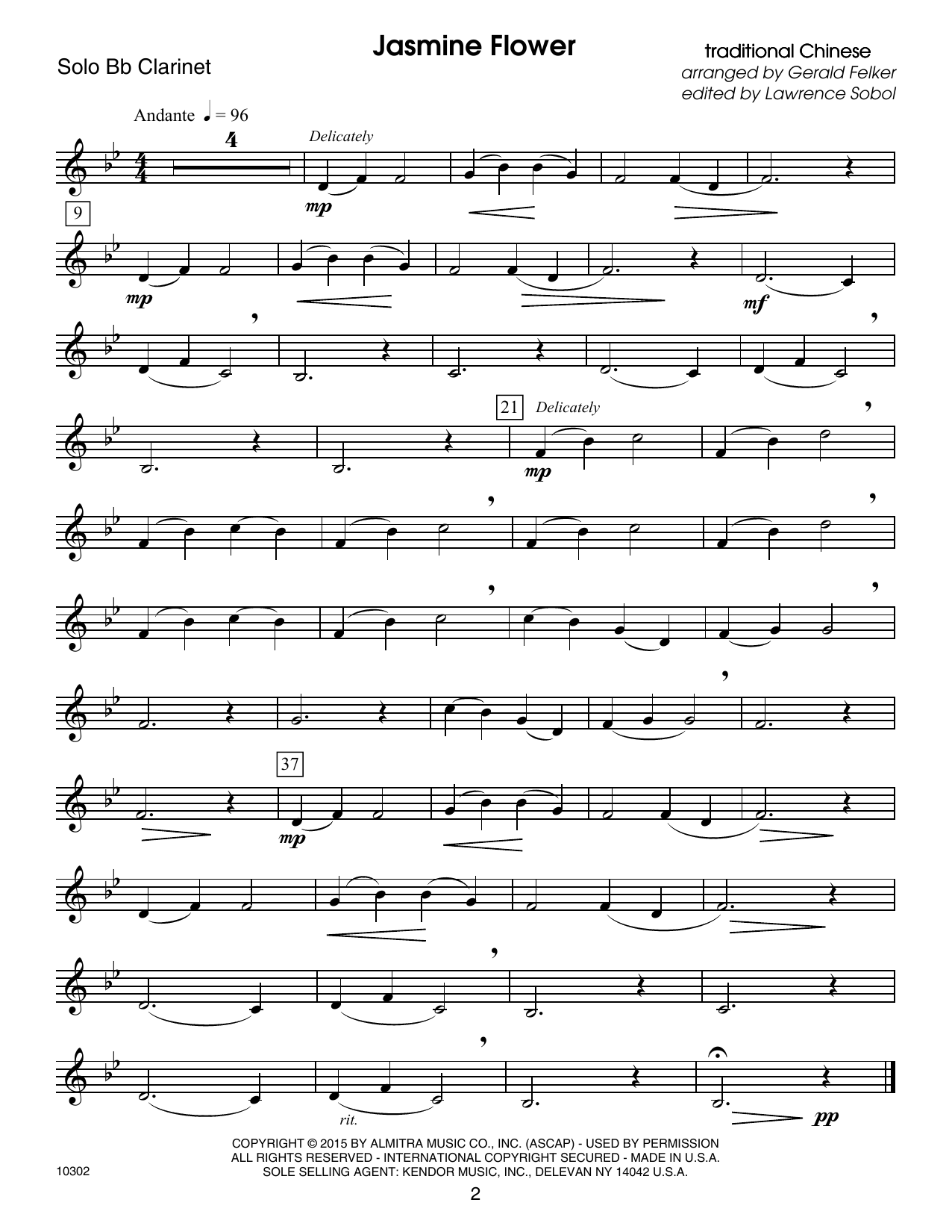Kendor Debut Solos - Bb Clarinet Sheet Music